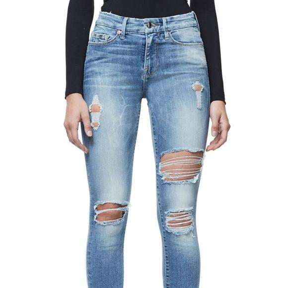 ff9ff351ad0 Good American Denim - Good Legs Ripped Skinny Jeans GOOD AMERICAN